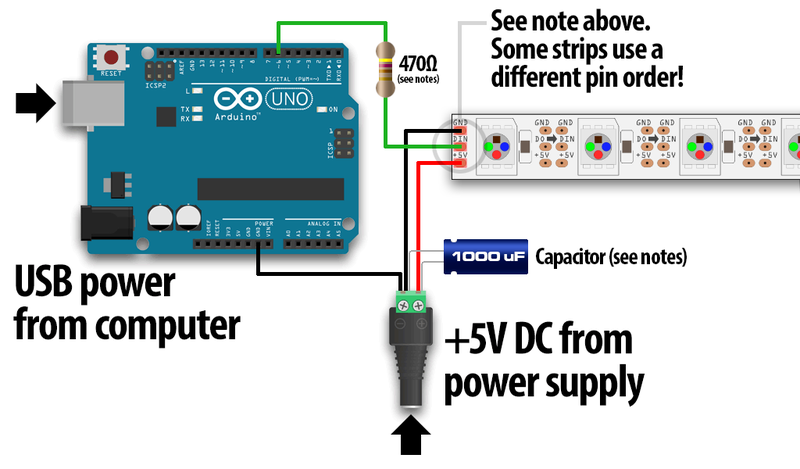 Ws2182b Arduino Wiring Diagram - Wiring Diagram Directory on
