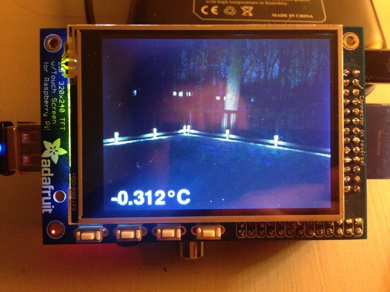 Receiver | Monitor PiCam and temperature on a PiTFT via