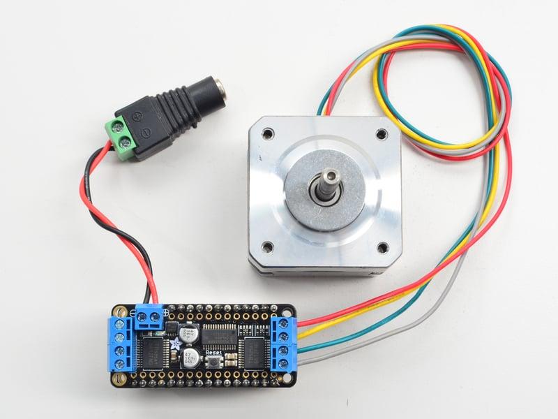 Using stepper motors adafruit stepper dc motor for Adafruit stepper motor shield