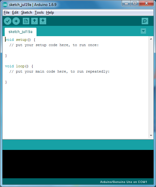 Upload your first sketch ladyada s learn arduino