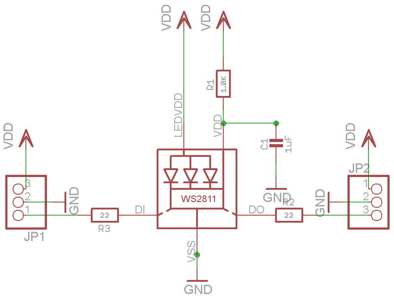 Neopixel Schematic on