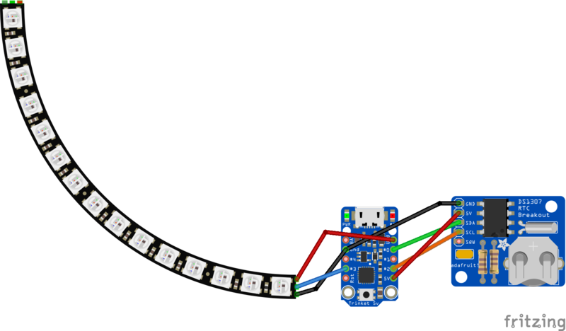 Building the Circuit | NeoPixel 60 Ring Wall Clock