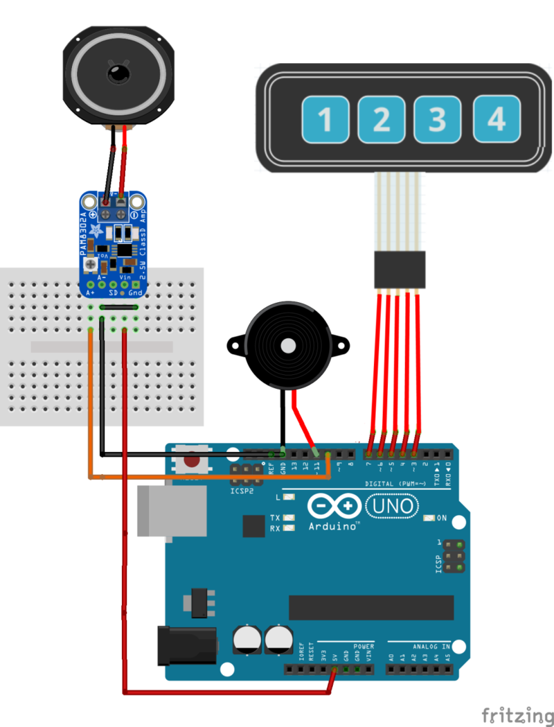Build The Controller Circuit Playground Sound Controlled Robot Two Circuits Carefully Compare Pictures To Breadboard Cprobottonemaker Smallkey Sm
