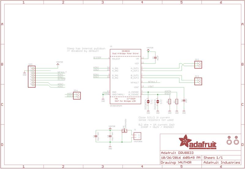 Overview Adafruit Drv8833 Dc Stepper Motor Driver Breakout Board