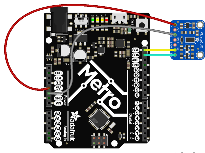 Arduino Code | Adafruit VL6180X Time of Flight Micro-LIDAR