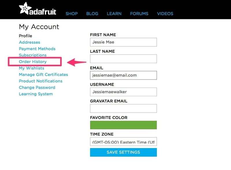 Access Your Invoice How To Get A Copy Of Your Invoice Adafruit - Invoice jpg