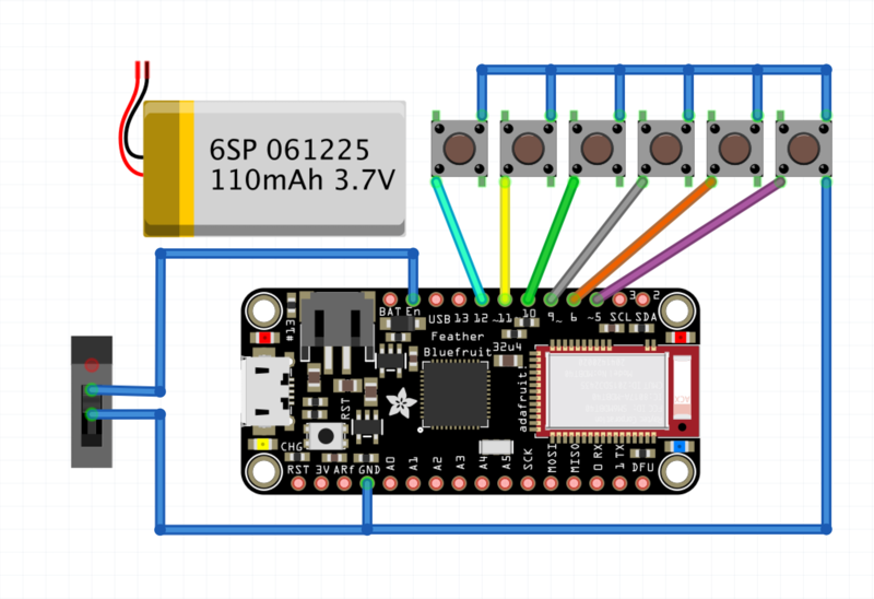 Circuit Diagram | Custom Bluetooth Cherry MX Gamepad | Adafruit ...