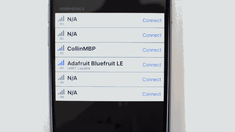 Usage | Bluefruit LE Connect for iOS and Android | Adafruit
