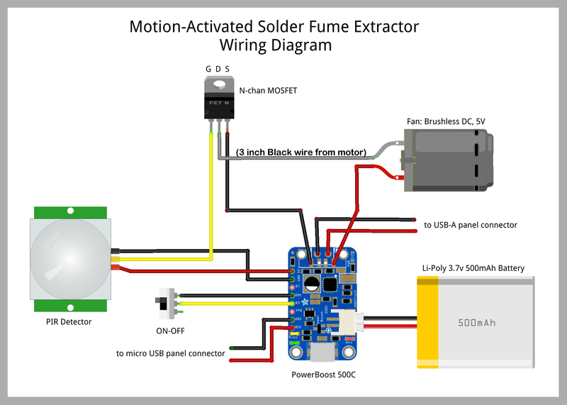 wire and solder motion activated solder fume extractor with lamp rh learn adafruit com