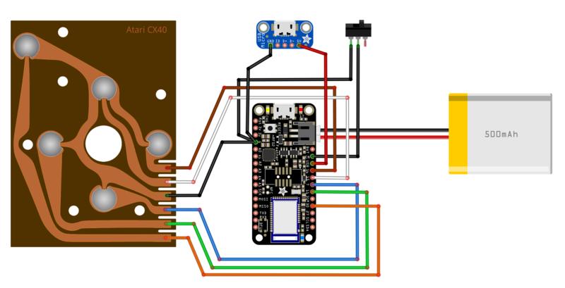 Building The Circuit Atarifruit 2600 Joystick Adafruit Learning Rhlearnadafruit: Atari Wiring Diagram At Gmaili.net