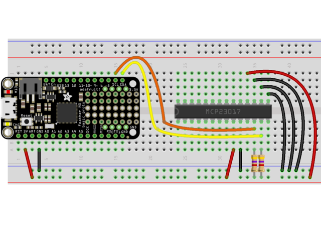 Overview | Using MCP23008 & MCP23017 with CircuitPython