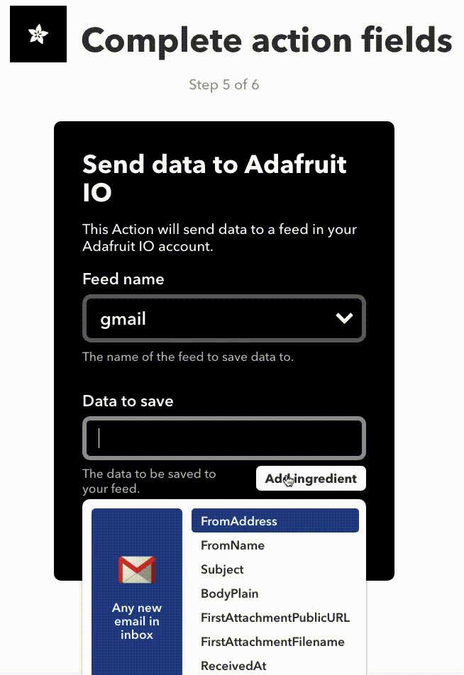 IFTTT Setup | Gmailbox | Adafruit Learning System