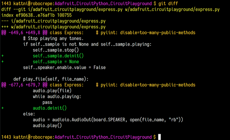 Status, Add, Commit, Push   Contribute to CircuitPython with