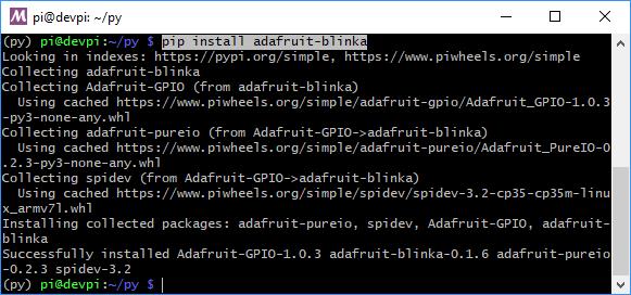 Installing CircuitPython Libraries on Raspberry Pi