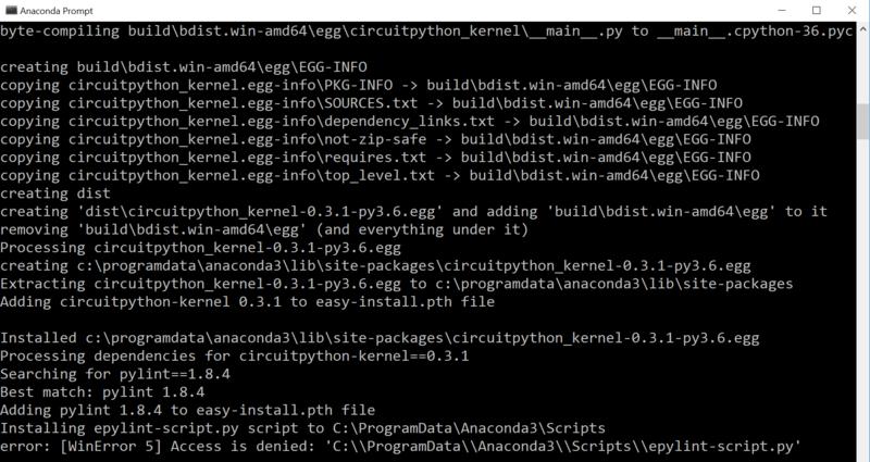 Installing on Windows | CircuitPython with Jupyter Notebooks