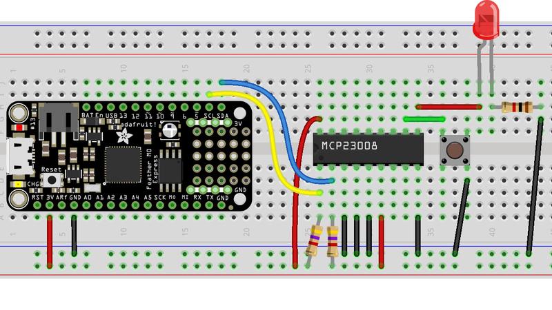 circuitpython_FeatherM0_MCP23008_LED_Button_bb.jpg