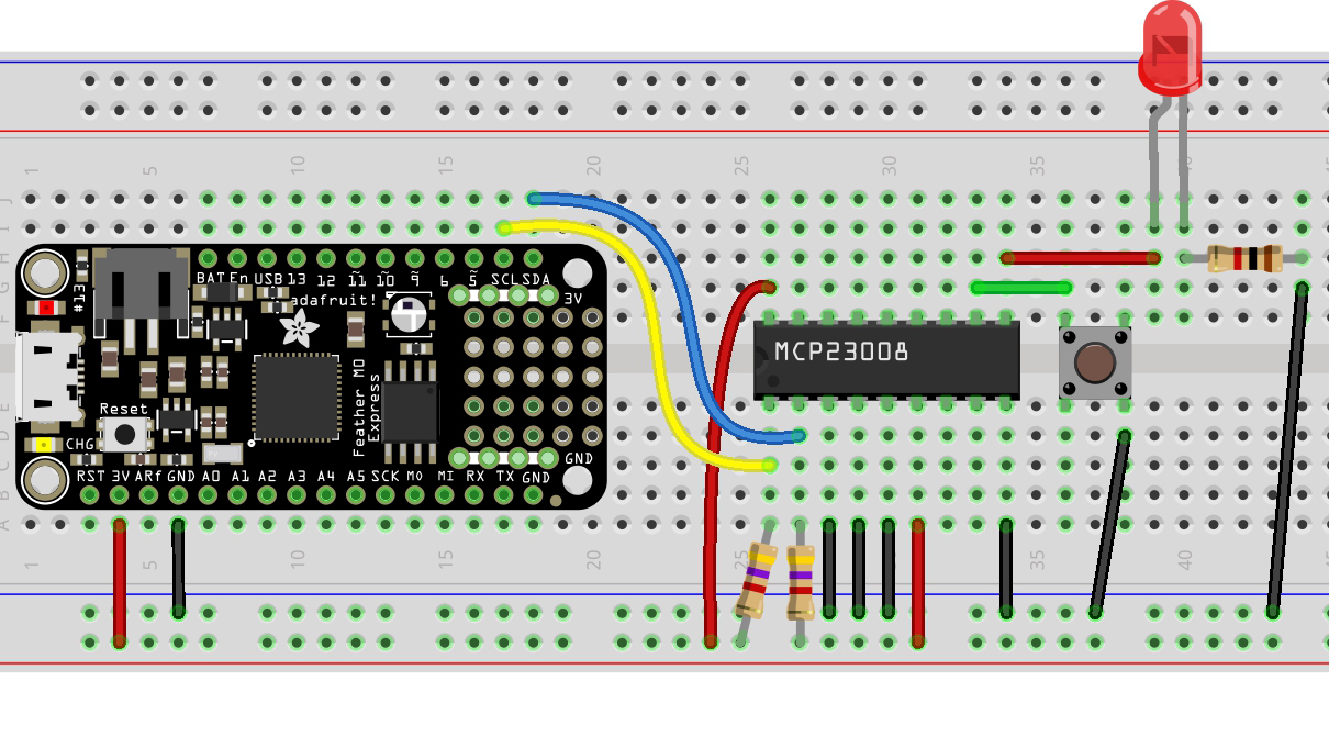 circuitpython_FeatherM0_MCP23008_LED_Button_bb.jpg
