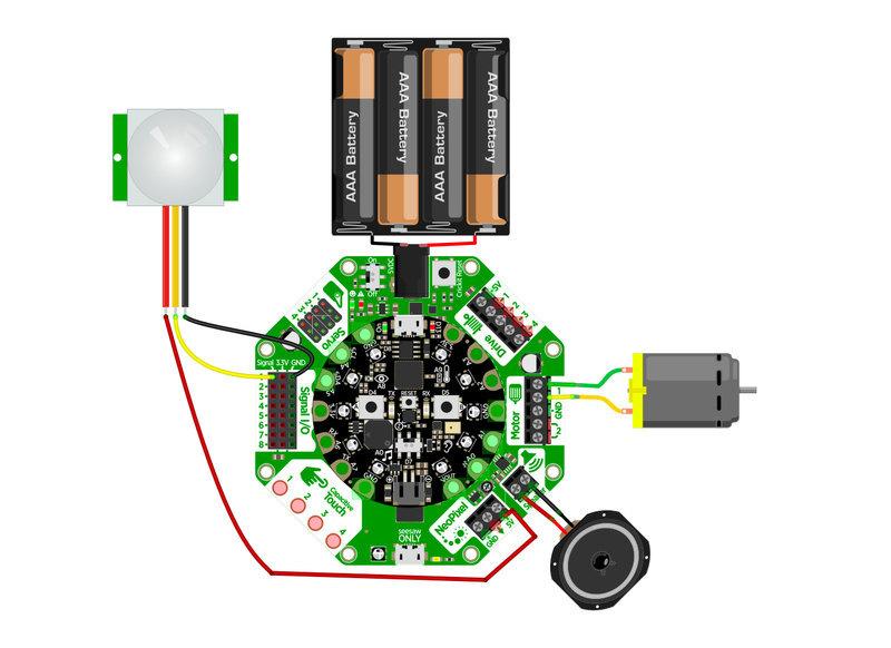 Circuit Diagram | Motion Gift Box | Adafruit Learning System
