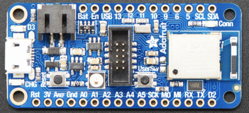 top-down view on feather-nrf52840