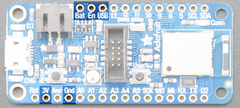 nrf52840 power pins