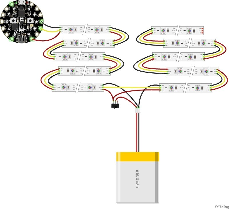 wiring diagram  led neopixel corset with circuit playground