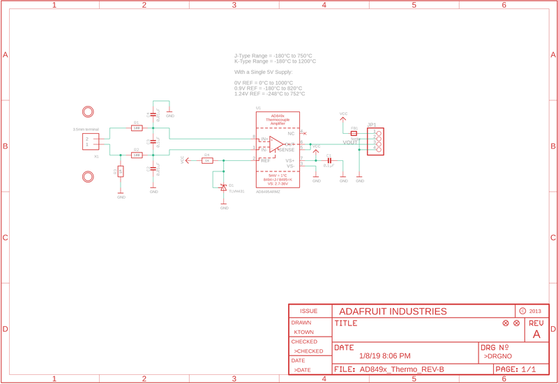k type thermocouple circuit diagram downloads ad8495 analog output k type thermocouple amplifier  downloads ad8495 analog output k type