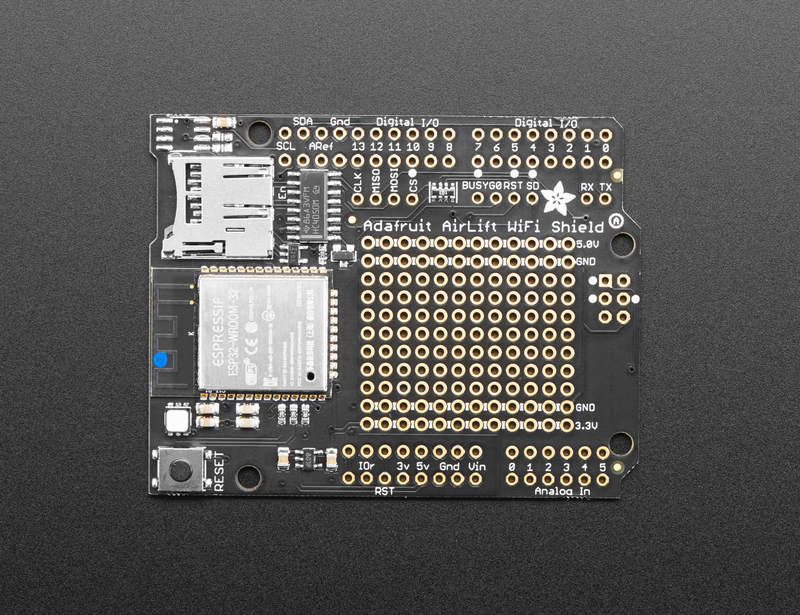 Overview | Adafruit AirLift Shield - ESP32 WiFi Co-Processor