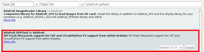 Using SPI Flash | Adafruit Hallowing M4 | Adafruit Learning