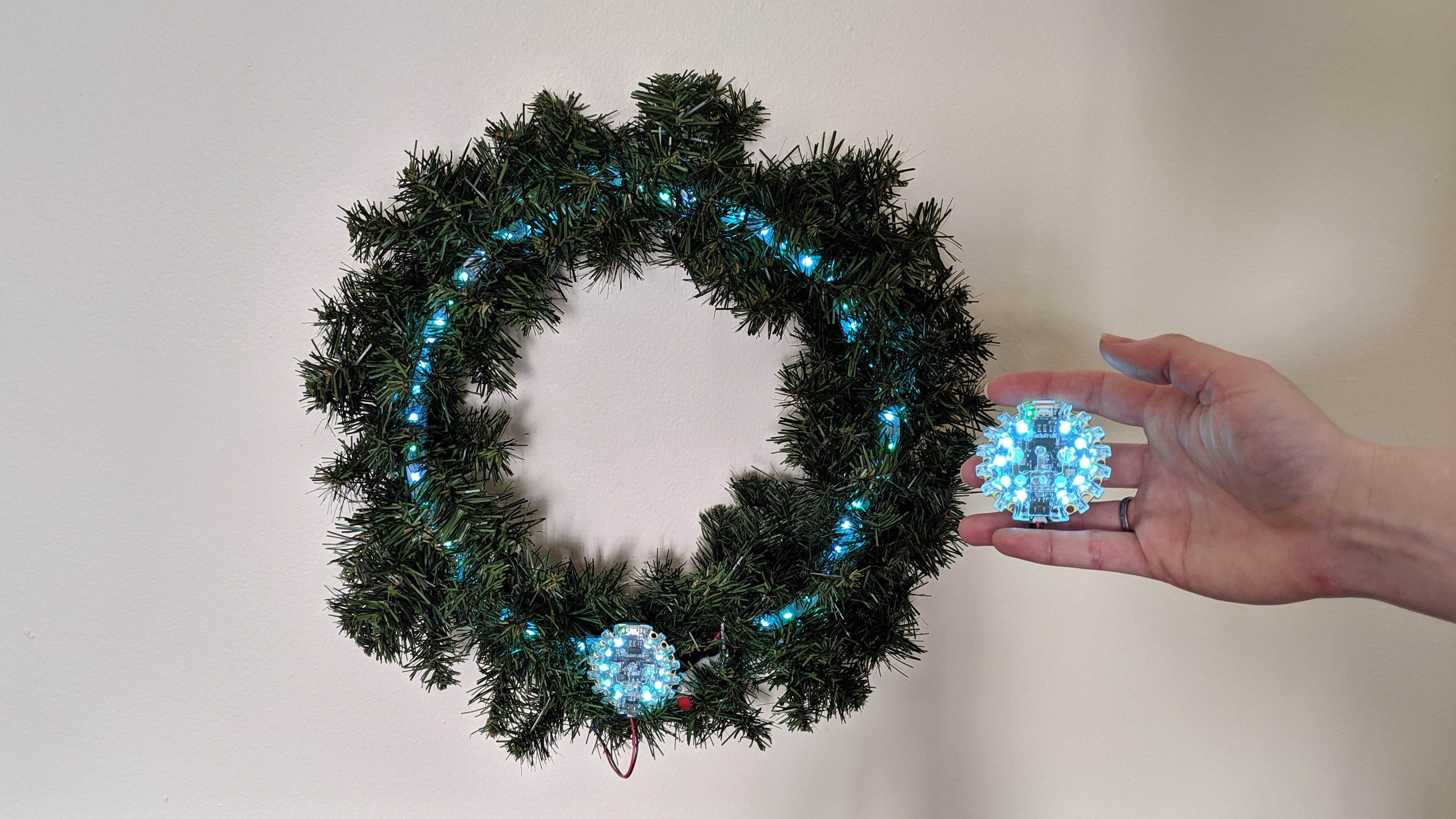 leds_CPB_NeoPIxel_Controller_Wreath_and_Controller_Lit_Up.jpg