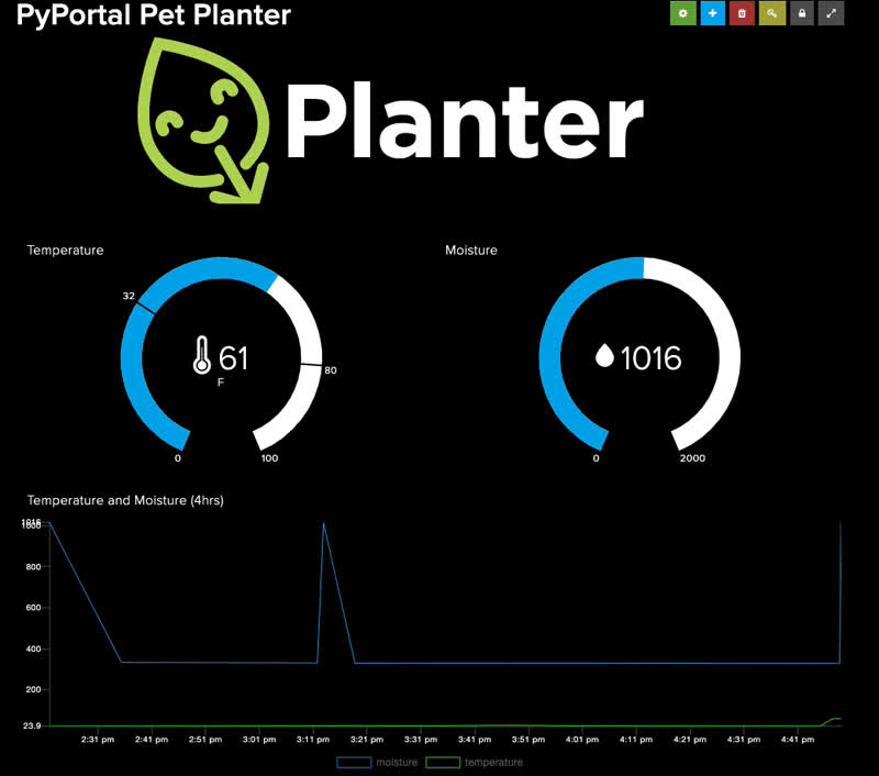 Overview Pyportal Pet Planter With Adafruit Io Adafruit Learning System