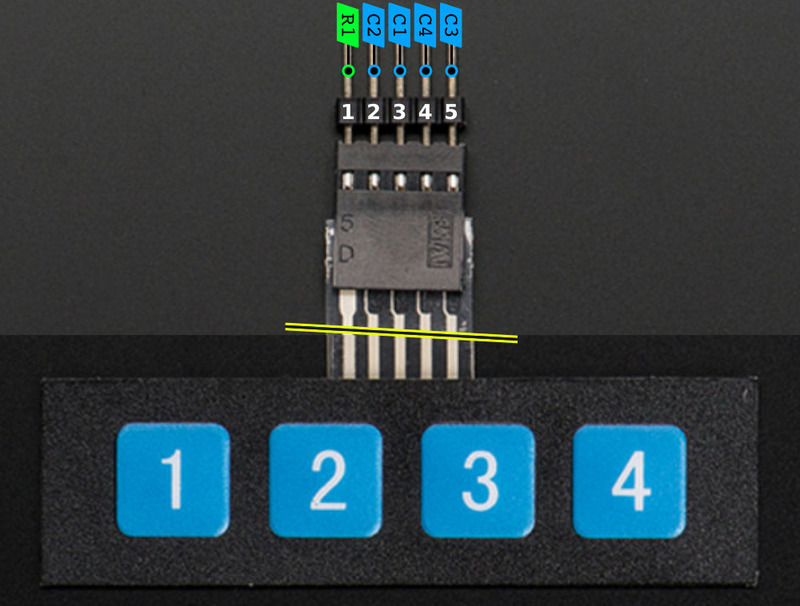 [DIAGRAM_0HG]  Overview | Matrix Keypad | Adafruit Learning System | Membrane 1x4 Keypad Wiring Diagram |  | Adafruit Learning System