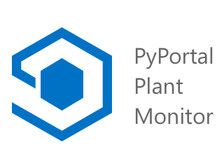 The apps splash screen showing the Azure IoT Central logo and the title PyPortal plant monitor