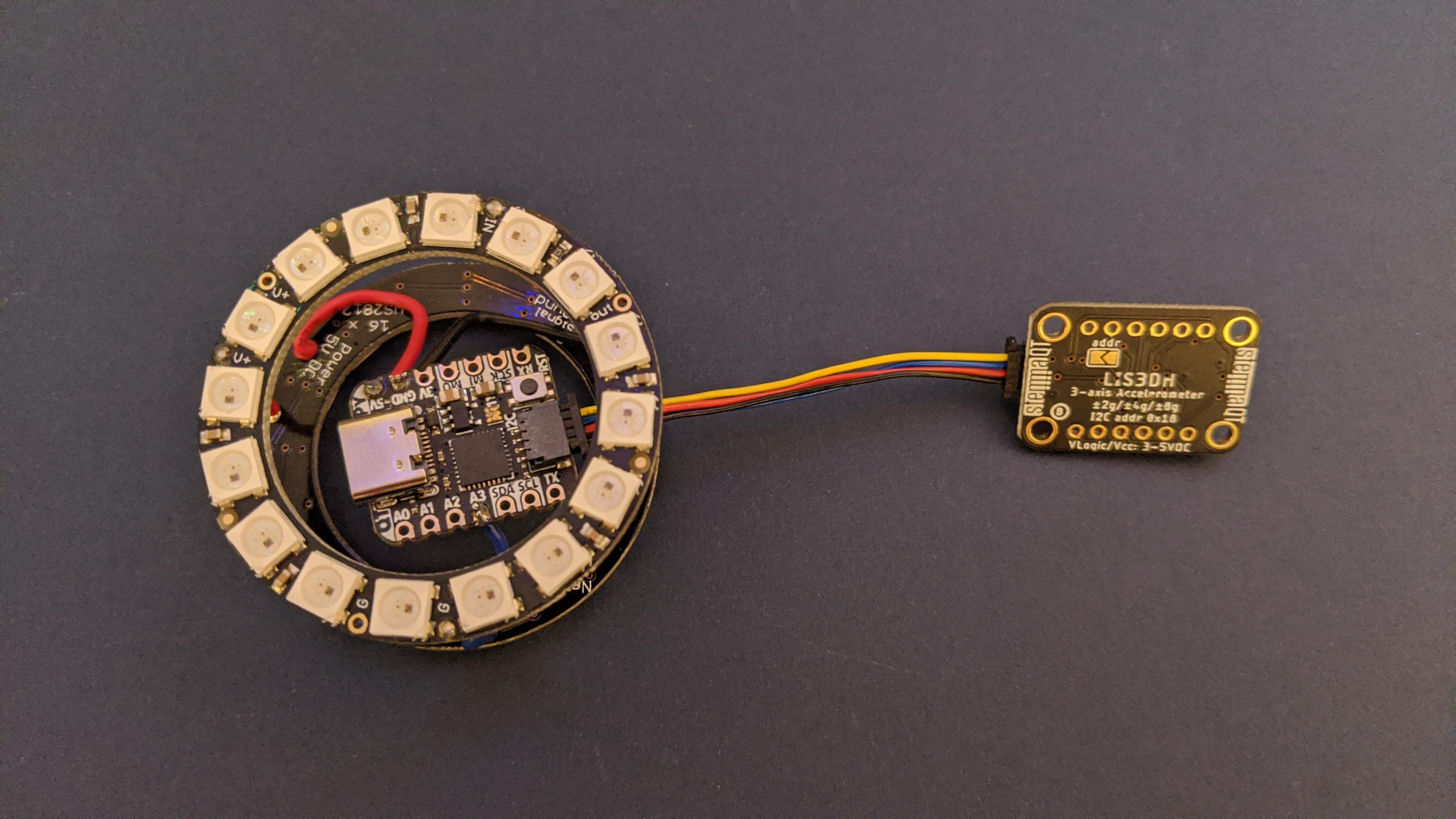 leds_QT_Py_Timer_attach_LIS3DH_STEMMA_cable.jpg