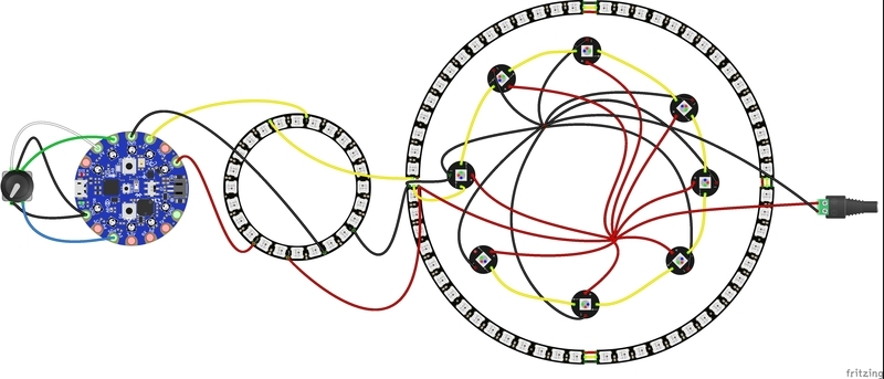 wiring diagram  neopixel crystal chandelier with