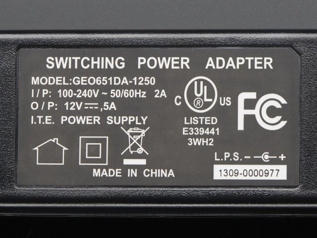 Lot 5 AC ADAPTER POWER SUPPLY for CCTV CAMERAS 4 PORT