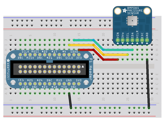 Configuring the Pi for I2C | Using the BMP085/180 with