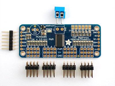 New SPI Breakout Board To Control 16 Servo Motors For Arduino Raspberry Pi