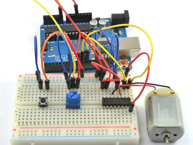 Arduino Code | Arduino Lesson 15  DC Motor Reversing