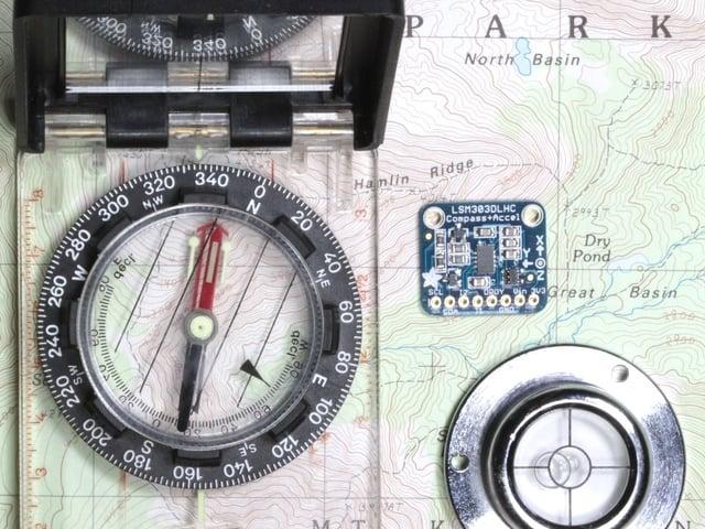 Arduino Code | LSM303 Accelerometer + Compass Breakout | Adafruit