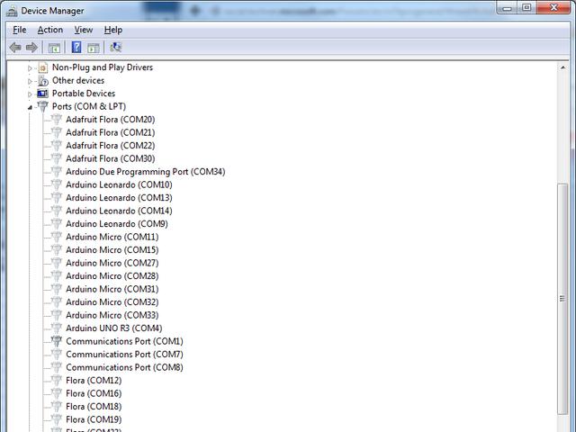 windows 7 com port assignment