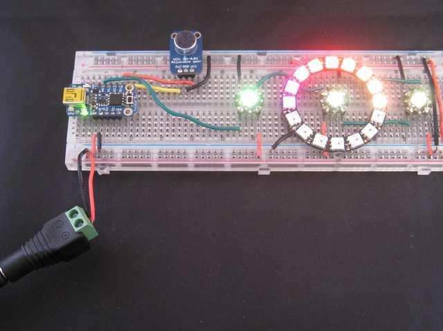 Code Trinket Sound Reactive Led Color Organ Adafruit