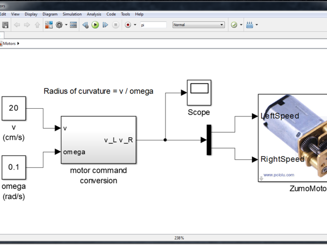 Simulink Model | How to program a Zumo Robot with Simulink