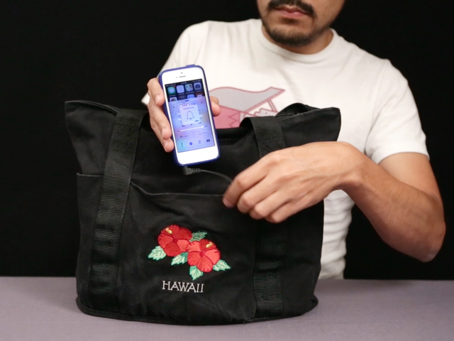 boombox beach bag with audio amp and speakers
