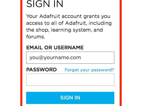 How to create an Adafruit account | How to create an