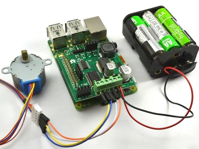 Overview | Using a 5V Stepper Motor with the RasPiRobot