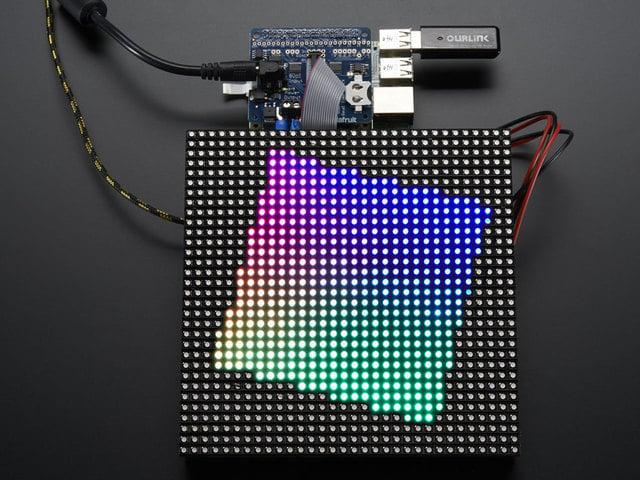 Driving Matrices | Adafruit RGB Matrix + Real Time Clock HAT for