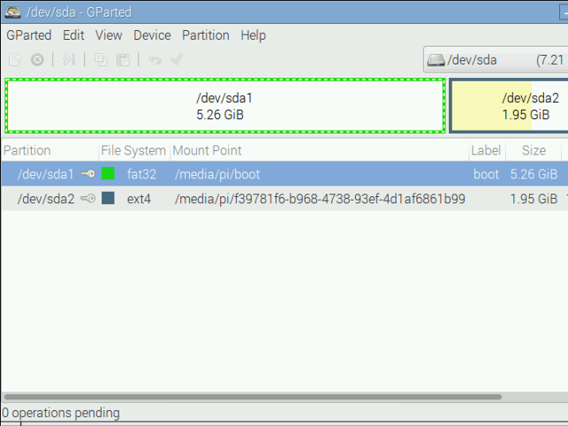 Edit Partitions | Resizing the Raspberry Pi Boot Partition