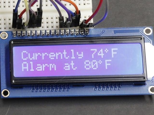 16x2 LCD | Adabox 001 Temperature Alarm | Adafruit Learning System