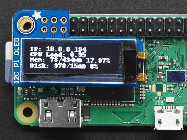 Usage | Adafruit PiOLED - 128x32 Mini OLED for Raspberry Pi