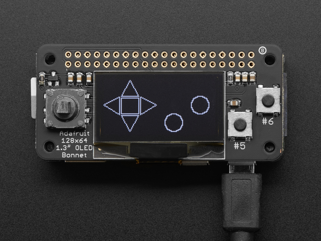 Usage   Adafruit 128x64 OLED Bonnet for Raspberry Pi